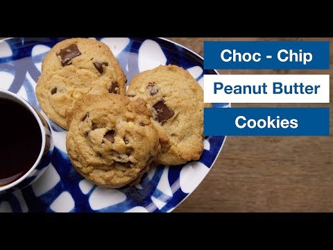 Chocolate Chip Peanut Butter Cookies Recipe || Le Gourmet TV Recipes