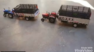 Model Toy Tractor And Trolley || RC New Holland And Arjun ||