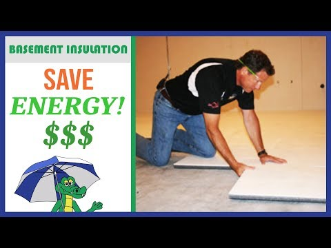 🐊💰 How to Insulate a Basement (SAVE ENERGY!) - Best Insulation Product