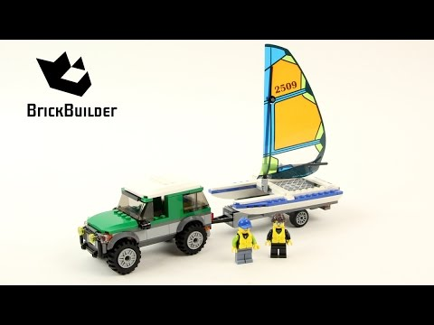 Vidéo LEGO City 60149 : Le 4x4 avec catamaran