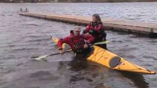 Effective bracing in a sea kayak