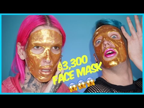$3,300 GOLD FACE MASK??!! Review + Demo feat. Laganja Estranja