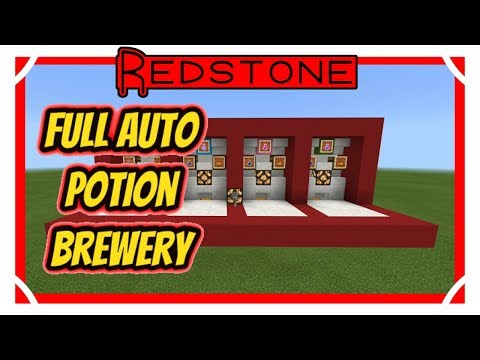 Minecraft Fully Automatic Potion Brewing Station, Compact no Hopper
