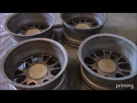 Painting Junk Rims Black for Land Rover - LR3