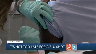 It's not too late to get a flu vaccination