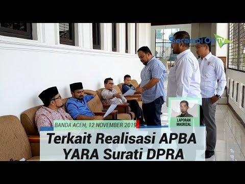 Terkait Realisasi APBA 2019, YARA Minta DPRA Gunakan Hak Interpelasi