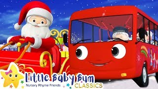 Wheels on The Bus - Christmas Songs for Kids | Nursery Rhymes | ABCs and 123s | Little Baby Bum