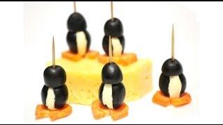 Фуршетный стол - Рецепт канапе Пингвин