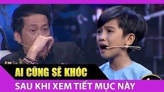 """[Thử Tài Siêu Nhí] Quách Phú Thành gây xúc động mạnh với """"Cha con người hát rong"""" Phần 3"""
