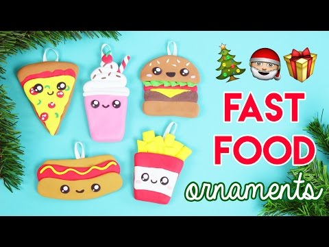 Make Your Own Fast Food Christmas Ornaments With Modelling Compound