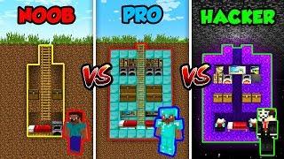 Minecraft NOOB vs. PRO vs HACKER: SECRET HOUSE in Minecraft!