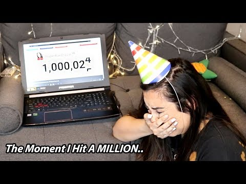 The Moment My Channel Hit A Million....* lots of tears*