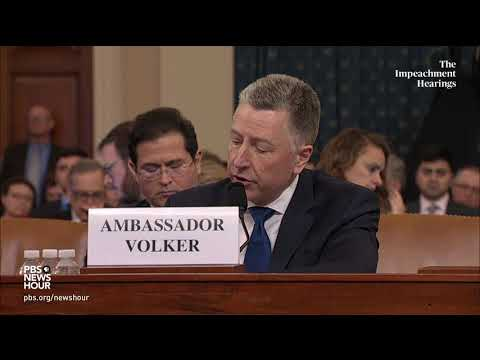 WATCH: Volker testifies he didn't know of 'linkage' between U.S. aid and investigations