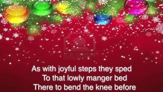 As With Gladness Men of Old ~ The London Fox Singers ~ lyric video