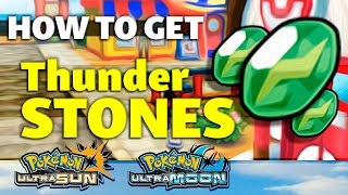HOW TO GET Thunder Stone in Pokemon Ultra Sun and Moon