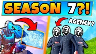 Fortnite SEASON 7?! - SECRET Agency & A.I.M. Corporation? - 8 Clues & Theories in Battle Royale!