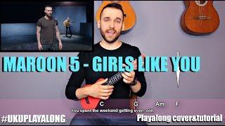 Maroon 5 - Girls Like You Ukulele Cover Tutorial (lyrics chords MusicSheet)