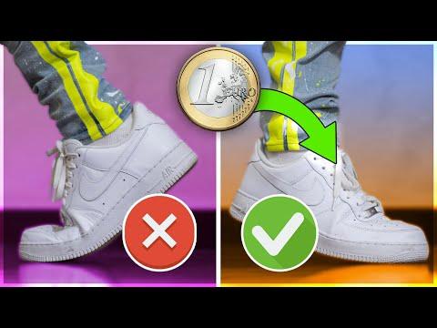 COME NON FAR PIEGARE LE SCARPE SPENDENDO SOLO 1 EURO! *miglior metodo* (Nike Air Force 1, etc...)