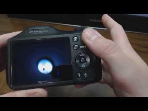 Sony Cybershot DSC H200 Black Digital Camera Unboxing