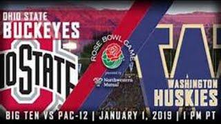 2019 ROSE BOWL! Ohio State Buckeyes Vs. Washington Huskies Live Stream Reaction