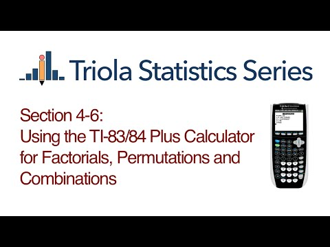 Permutations/Combinations using TI-83/84 graphing calculator
