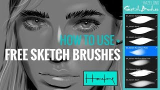 FREE Procreate Sketch Brushes + Sketch & Learn with me