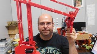 Braco Robotico Arduino Vermelho 30cm Pega Bichinho