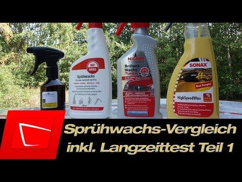 Auto Sprühwachs Vergleich Teil 1 - Rotweiss, Nigrin, Sonax und PolishAngel Rapidwaxx im Test