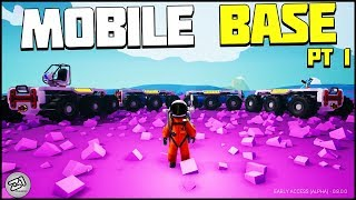 Building A MOBILE BASE Part 1 Astroneer Update 8.0 Update | Z1 Gaming