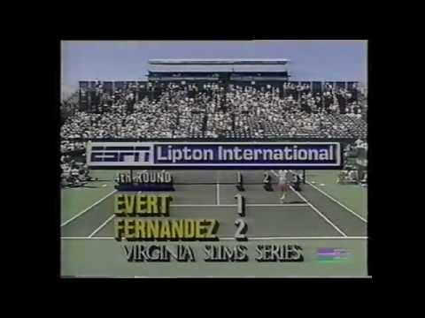 Chris Evert vs Mary Joe Fernandez 1989 Key Biscayne 1/3