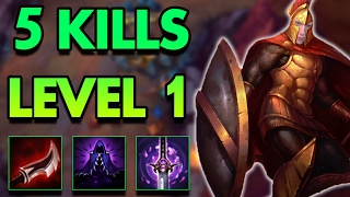 5 KILLS AT LEVEL 1?! FULL LETHALITY PANTHEON TOP!   League Of Legends Commentary