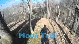 Riding the full Moon Trail and connecting the loop with Old Walnut Trail and Ray Lang Trail counter clockwise. Sections of the video were sped up to shorten the video.