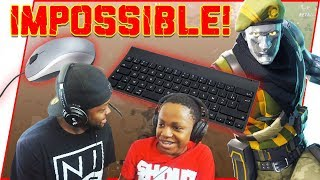 The IMPOSSIBLE Fortnite Challenge ft. Annoying Little Brother! - Fortnite Gameplay