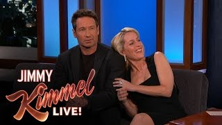 David Duchovny & Gillian Anderson Explain their 90's Tension - dooclip.me