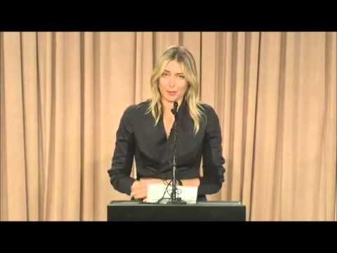 Fairly ugly carpet joke at Maria Sharapova's major announcement press conference