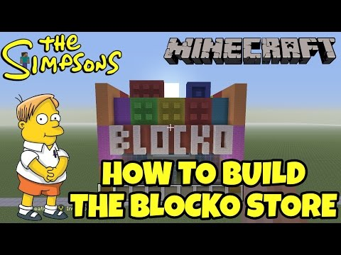 Minecraft Tutorial - How To Build The Blocko Store