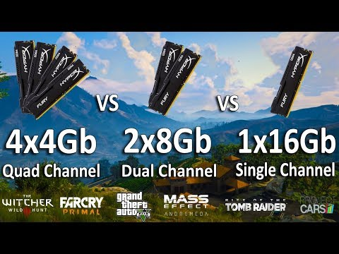 4x4Gb vs 2x8Gb vs 1x16Gb RAM Test in 6 Games (Ryzen 1400)