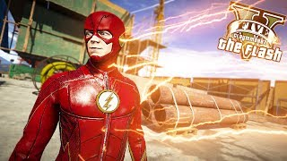 The Flash VS Nuke! RUNNING IN FLASH TIME! (GTA 5 Quicksilver Mod)