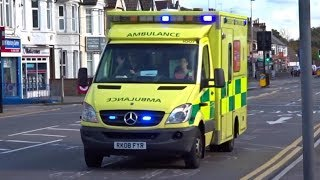 UK Ambulance transporting patient w/ lights and sirens | Uncommon TWO-TONE siren