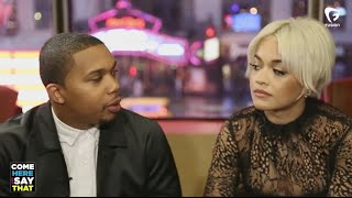 "Rita Ora and Charles Hamilton talk ""New York Raining,"""