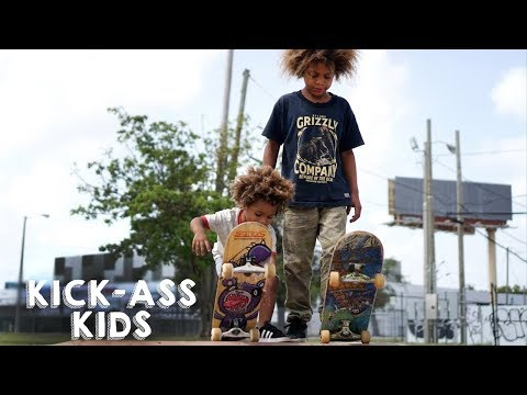 The Amazing Skateboard Brothers Aged 8 And 2 | KICK-ASS KIDS