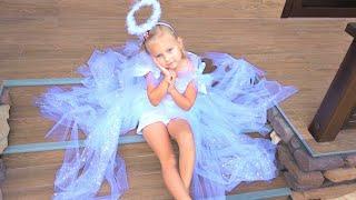 Алиса и мама сделали ПЛАТЬЕ своими руками !!! DIY angel dress for girl
