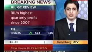 Rina Sanghavi Telephonic Interview - RIL On Bloomberg UTV.avi