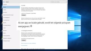 Privacy verbeteren in Windows 10 locatievoorziening
