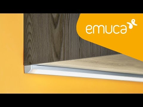 How to install an LED Strip with a tilted aluminium profile in furniture - Emuca