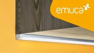 How to install an LED Strip with a tilted aluminium profile in furniture