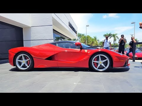 Ferrari LaFerrari Delivery to Prestige Imports Miami BRO I'M IN LOVE!!! Start up acceleration revs
