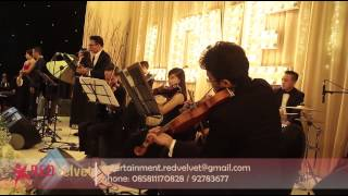 Ed Sheeran - Thinking Out Loud ( Cover By Red Velvet Entertainment ) Live At Ritz Carlton Hotel