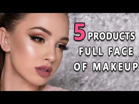 FULL FACE USING ONLY 5 AFFORDABLE PRODUCTS   Makeup Tutorial