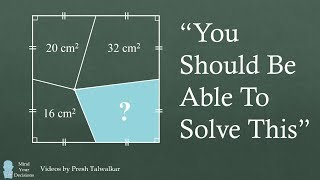 """What Is The Area? """"You Should Be Able To Solve This"""""""
